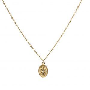 Goldkette eva mit anhanger und steinen Tayna Schmuck & Accessoires