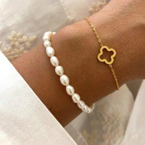 Perlenarmband - Goldarmband Tayna Schmuck & Accessoires